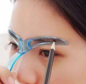 шаблон- трафарет для бровей с ручкой