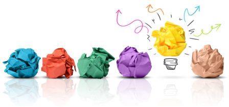 цветные комки бумаги