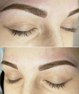 брови девушки после перманентного макияжа