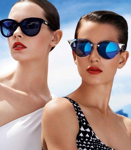девушки в очках от солнца