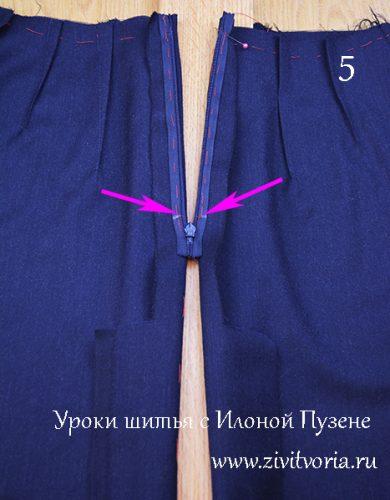 Как правильно вшить потайную молнию в юбку | Блог Илоны Пузене