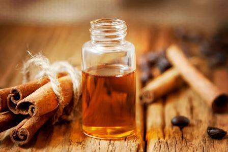 корица и эфирное масло