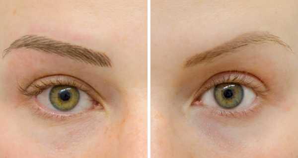 волосковая техника тату бровей до и после
