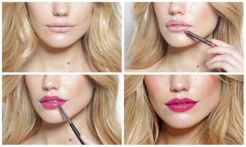 инструкция по покраске губ
