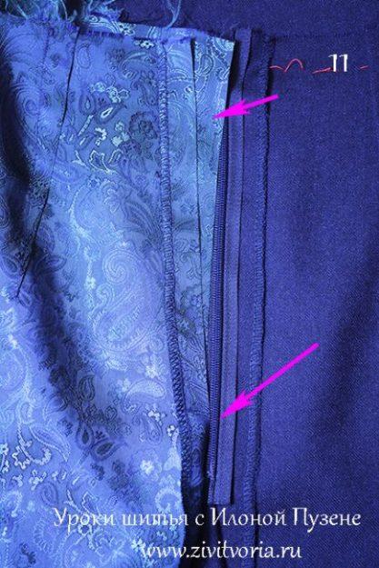 Как вшить потайную молнию в юбку 2 | Блог Илоны Пузене